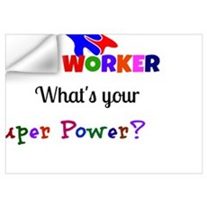 Social Worker Superhero Wall Decal
