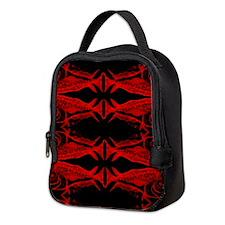 Retro Mahi Mahi Dark Pattern. F Neoprene Lunch Bag