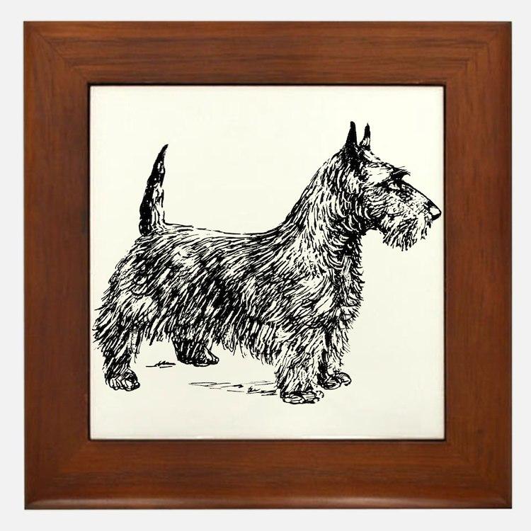 Terrier Framed Tile