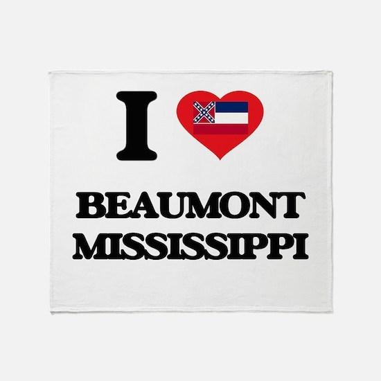 I love Beaumont Mississippi Throw Blanket