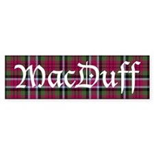 Tartan - MacDuff Bumper Sticker