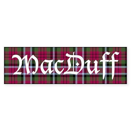 Tartan - MacDuff Sticker (Bumper)