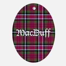 Tartan - MacDuff Ornament (Oval)