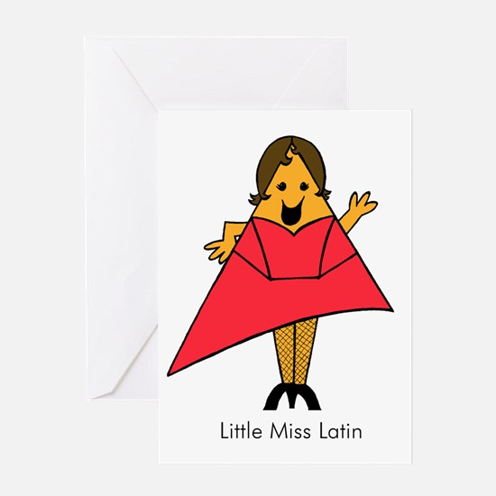 Little Miss Latin Greeting Card