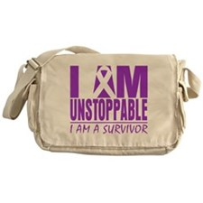 Fibromyalgia I am Unstoppable. Messenger Bag