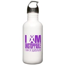 Fibromyalgia I am Unstoppable. Water Bottle