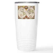 Antique World Map Travel Mug