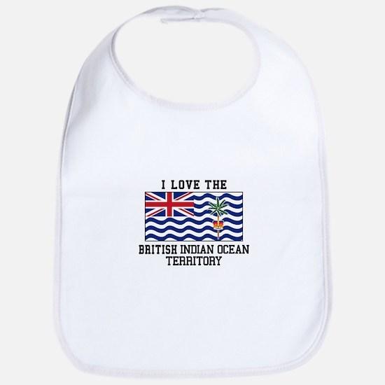 I Love The British Indian Ocean Territory Bib