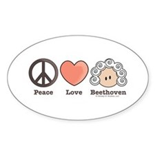 Peace Love Heart Beethoven Music Decal