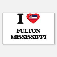 I love Fulton Mississippi Decal