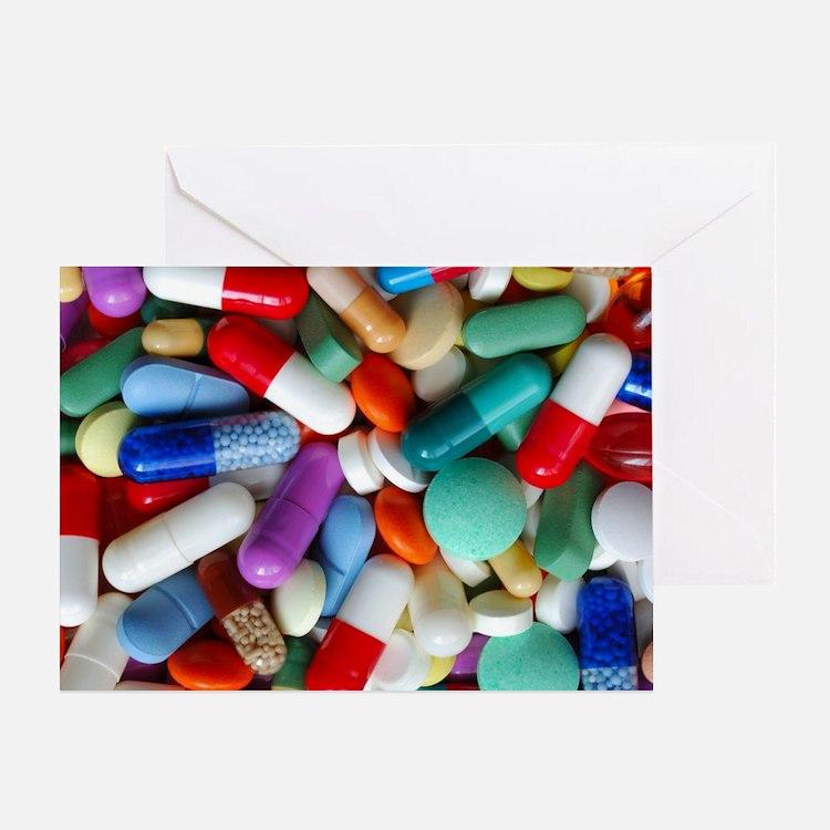 pills drugs Greeting Card