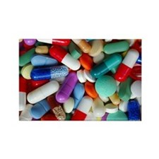 pills drugs Rectangle Magnet