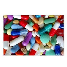 pills drugs Postcards (Package of 8)