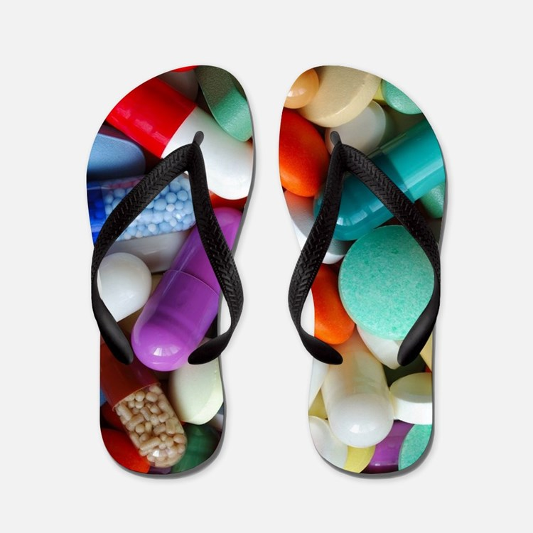 pills drugs Flip Flops