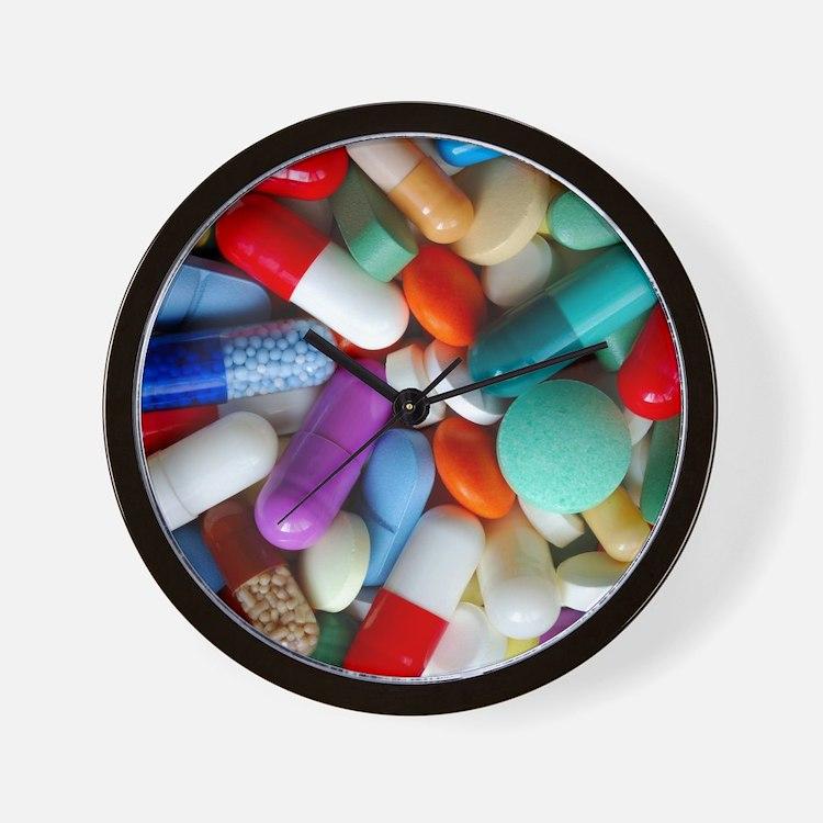 pills drugs Wall Clock