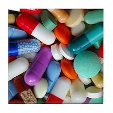 pills drugs Tile Coaster