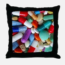 pills drugs Throw Pillow