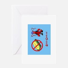 Lobster Dude-no butter Greeting Card