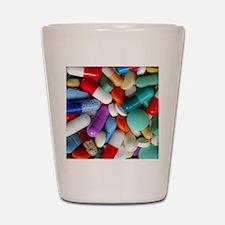 pills drugs Shot Glass