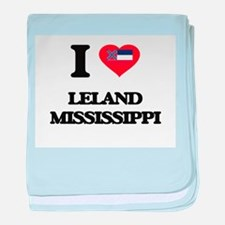 I love Leland Mississippi baby blanket