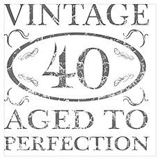 40th Birthday Vintage Poster