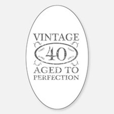 40th Birthday Vintage Decal