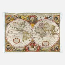 Antique World Map Pillow Case