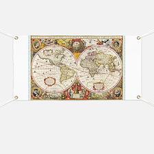 Antique World Map Banner