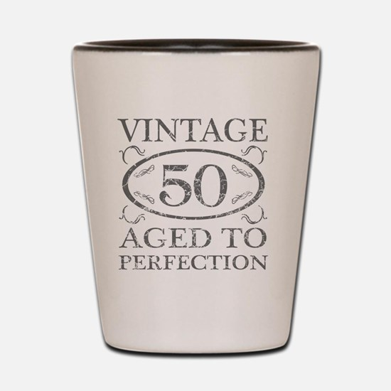 50th Birthday Vintage Shot Glass