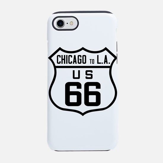 US Route 66 Chicago to L.A. iPhone 7 Tough Case