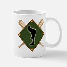 Baseball Diamond with Crossed Bats Mug