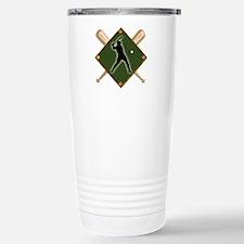 Baseball Diamond with C Stainless Steel Travel Mug