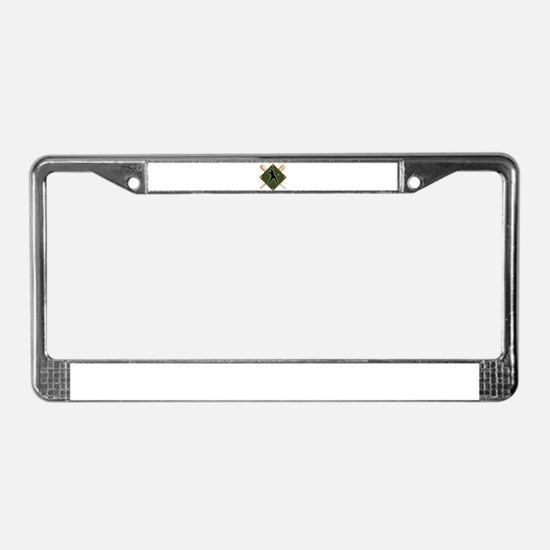 Baseball Diamond with Crossed License Plate Frame