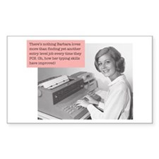MWC- Typist Rectangle Decal