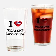 I love Picayune Mississippi Drinking Glass