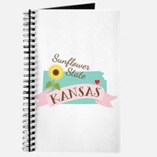 Kansas State Outline Sunflower Journal