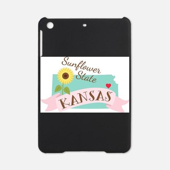 Kansas State Outline Sunflower iPad Mini Case