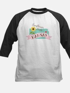 Kansas State Outline Sunflower Baseball Jersey