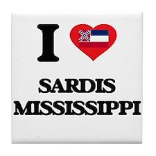 I love Sardis Mississippi Tile Coaster