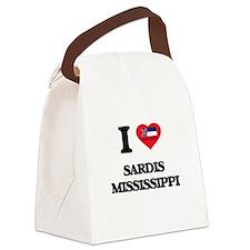 I love Sardis Mississippi Canvas Lunch Bag