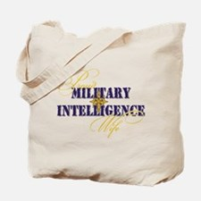 Proud Military Intelligence W Tote Bag
