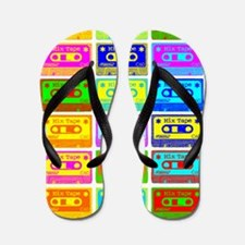 Psychedelic Mix Tapes Flip Flops