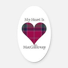 Heart - MacGillivray Oval Car Magnet