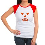 Pumpkin Face Women's Cap Sleeve T-Shirt