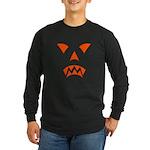 Pumpkin Face Long Sleeve Dark T-Shirt