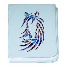 Magical Mystical Horse Portrait baby blanket
