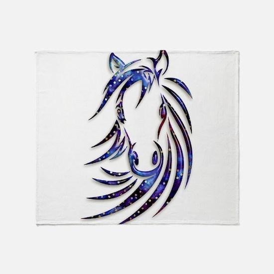 Magical Mystical Horse Portrait Throw Blanket