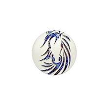 Magical Mystical Horse Portrait Mini Button