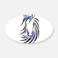 Magical Mystical Horse Portrait Oval Car Magnet
