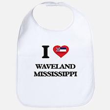 I love Waveland Mississippi Bib
